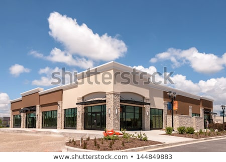 Commercial retail building glass facade Stock photo © stevanovicigor