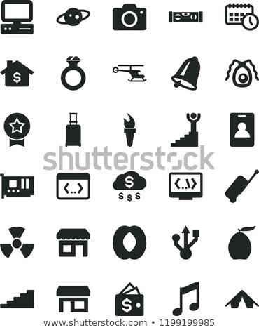 Saturn flat icon Stock photo © biv