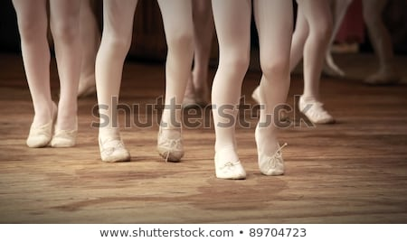 A ballet fragment with little girls legs on pointes Stock photo © stefanoventuri