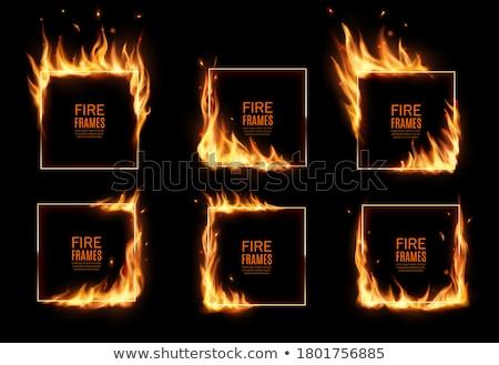 Fuoco set buio offuscata nero Foto d'archivio © romvo