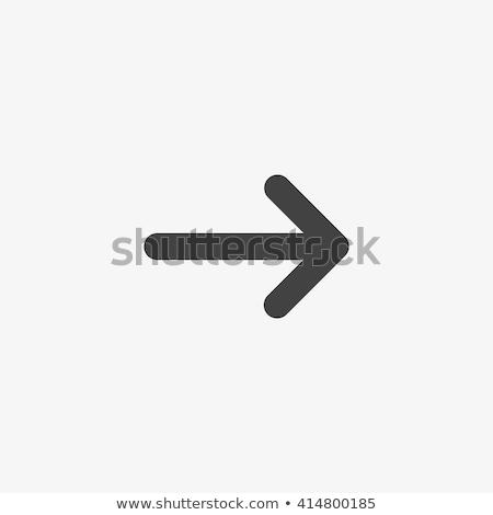Botões seta símbolos texto compras lista Foto stock © studioworkstock