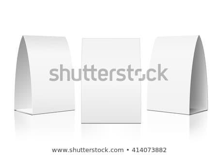 白 折られた 紙 カード 孤立した ストックフォト © sidmay