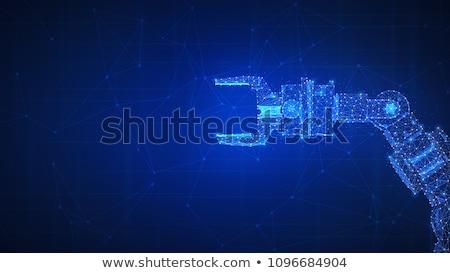 Robotic arm futuristic hud background. Stock photo © RAStudio