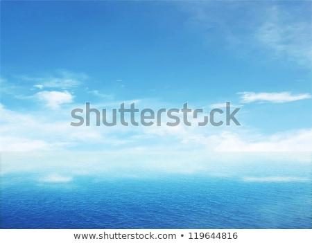 Karaibów morza horyzoncie Błękitne niebo wakacje dzień Zdjęcia stock © lunamarina