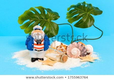 children boat such lonely island palm tree Stock photo © lunamarina