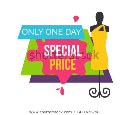 специальный цен один день женщины бутик Сток-фото © robuart
