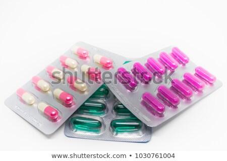 Pastillas ampolla azul espacio de la copia médicos Foto stock © Illia