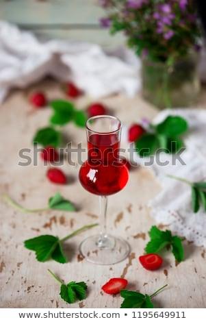 Eper klasszikus szelektív fókusz likőr szemüveg stílus Stock fotó © zoryanchik