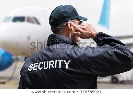 вид сзади мужчины охранник дома трава модель Сток-фото © AndreyPopov