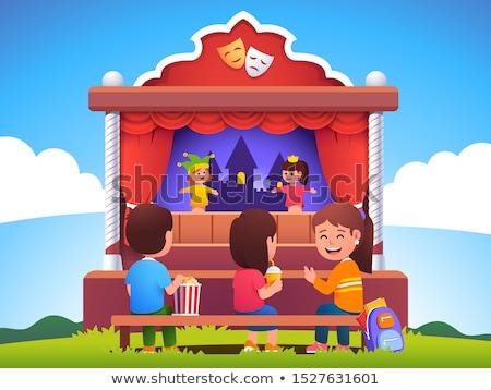 Bambini fantoccio show scuola illustrazione Foto d'archivio © bluering