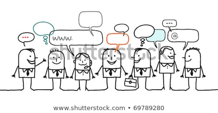 Professional Networking And Relationship, Social or Business Net Stock photo © olivier_le_moal