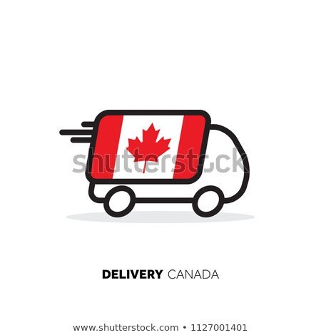 Logisztika Kanada zászló ikon retró stílus illusztráció Stock fotó © patrimonio