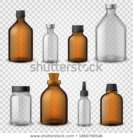 Bottles and Jars of Pills and Medical Syrups Set Stock photo © robuart