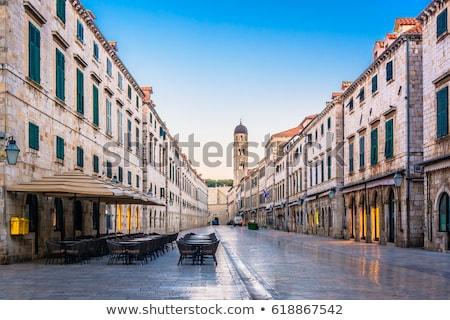 célèbre · rue · dubrovnik · matin · vue · région - photo stock © xbrchx