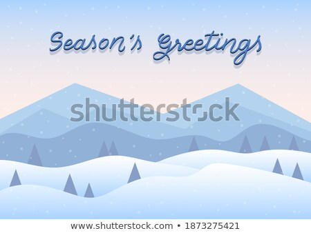 HNY letters with pine tree forest illustration for Happy New Yea Stock photo © sgursozlu