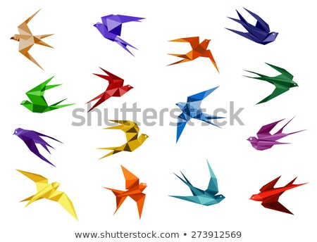 Polygonal folded wings Stock photo © blackmoon979