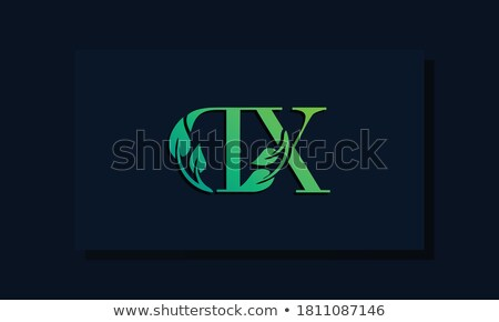 Stock photo: green leaf letter x symbol logo vector