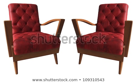 Armchair with texture of clouds isolated on white background. The highest degree of comfort. Vector  Stock photo © Lady-Luck