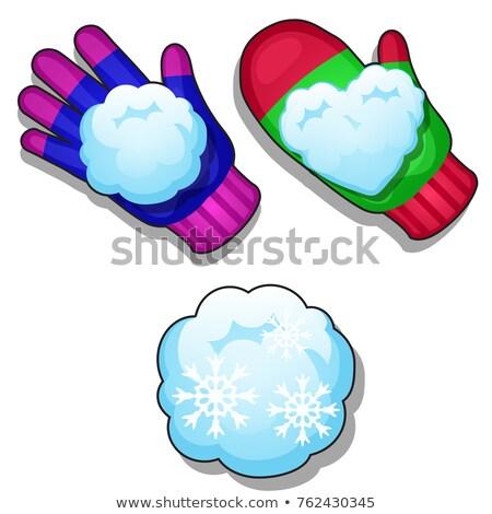 Set inverno maglia colorato guanti diverso Foto d'archivio © Lady-Luck