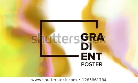 Gradient Fluid Background Vector. Modern Sreen. Trendy Placard. Chemical Hologram. Liquid Design Ill Stock photo © pikepicture