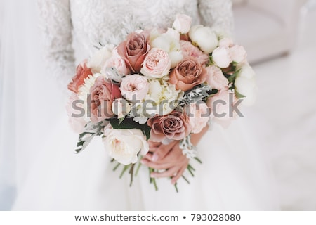 Stockfoto: Bruidegom · boeket · bruiloft · dag · ochtend