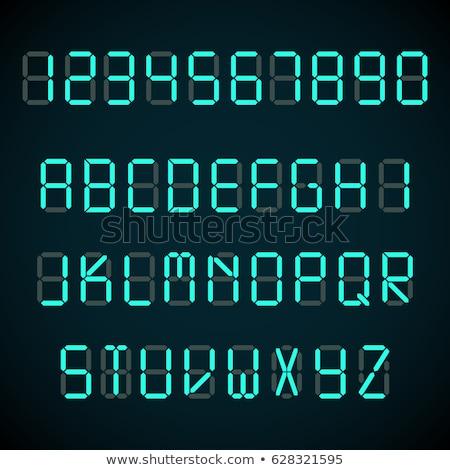 Cyfrowe litery metal nit tle naciśnij Zdjęcia stock © vtorous