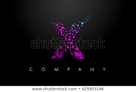 x logo letter purple blue symbol icon element Stock photo © blaskorizov
