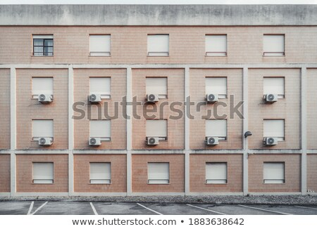 Verschillend Windows illustratie home deur achtergrond Stockfoto © colematt