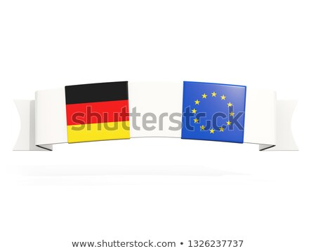 Banner with two square flags of Germany and european union Stock photo © MikhailMishchenko