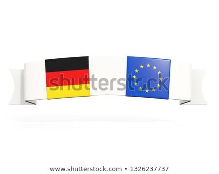 Banner dwa placu flagi Niemcy europejski Zdjęcia stock © MikhailMishchenko