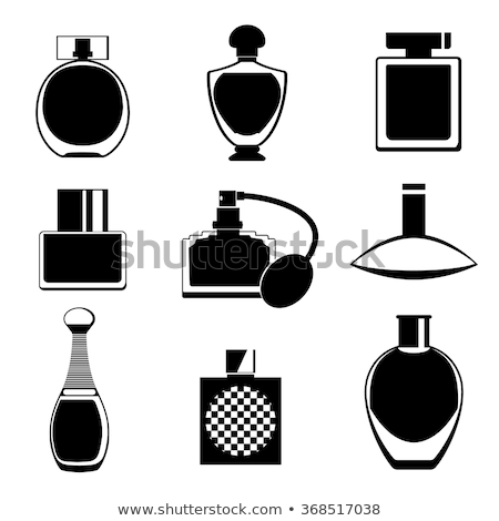 Stock photo: Set of different bottles of perfume. Vector illustration of a sketch style. Stylized watercolor.