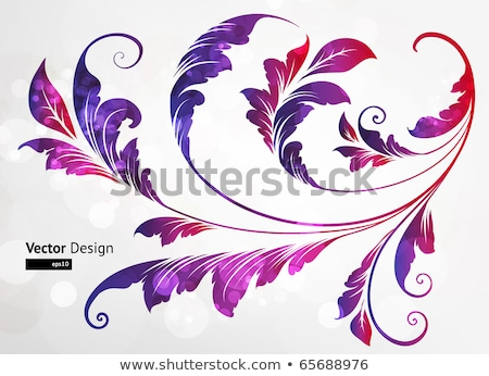 Absztrakt görbe terv sziluett illusztráció egyszerűsített Stock fotó © Blue_daemon