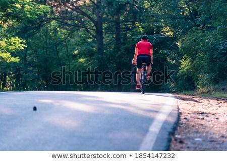 小さな サイクリスト ライディング 自転車 風景 ストックフォト © ra2studio