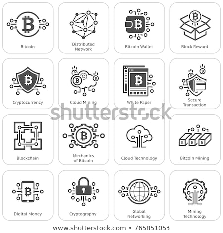 Cryptocurrency and blockchain icons Stock photo © nosik