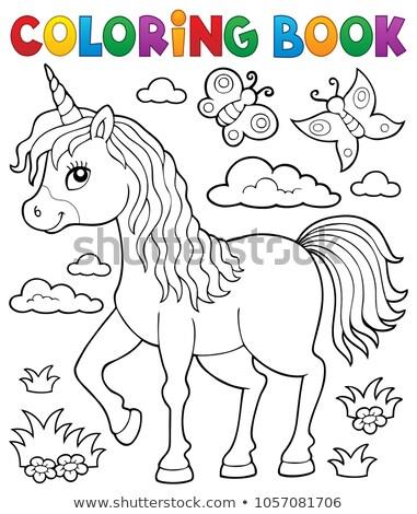 Cute unicorn topic image 1 Stock photo © clairev