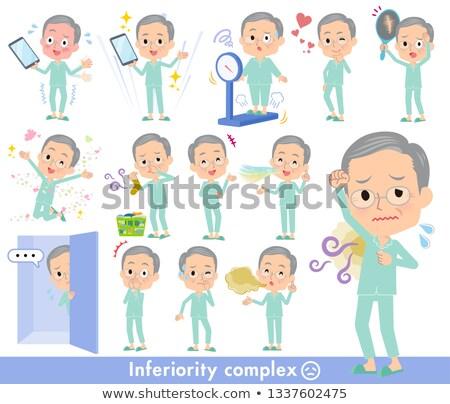 patient old men_complex Stock photo © toyotoyo
