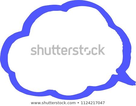 Kleur lijn wolk type pop Stockfoto © Blue_daemon