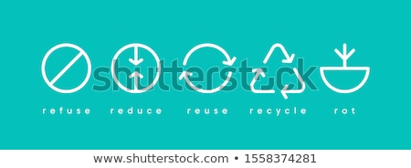 Recycle arrows and  green Earth. Vector illustration Stock photo © olehsvetiukha