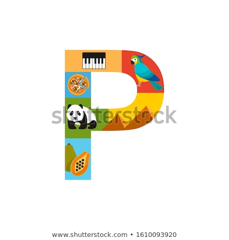 A letter P for panda Stock photo © colematt