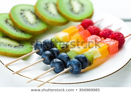 Fruit skewers, healthy summer snack Stock photo © furmanphoto
