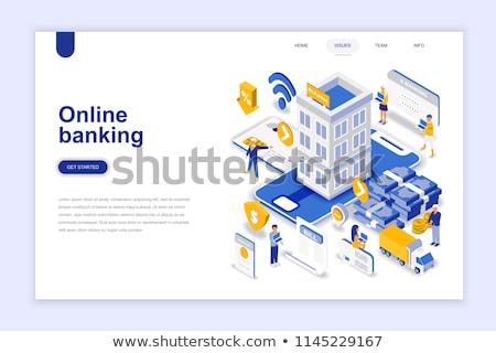 Banku konto lądowanie strona klienta posiedzenia Zdjęcia stock © RAStudio
