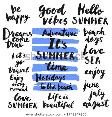 Verão tempo mar aventura bom vetor Foto stock © robuart