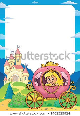 Princess in carriage theme frame 1 Stock photo © clairev