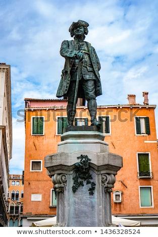 Statue of the great italian dramatist Carlo Goldoni in Venice, I Stock photo © boggy
