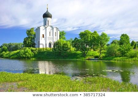 белый · православный · Церкви · два · свет · лет - Сток-фото © borisb17