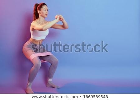 Foto giovani ragazza abbigliamento sportivo allenamento Foto d'archivio © deandrobot