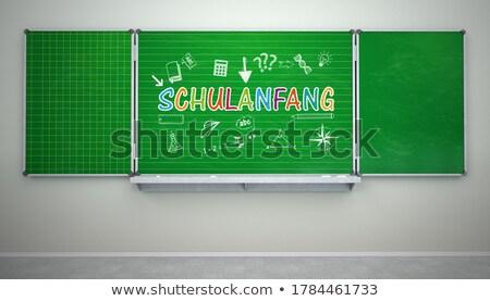 Iskola tábla zöld szöveg vissza az iskolába eps Stock fotó © limbi007