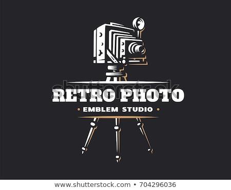 vintage photographer emblems stock photo © netkov1