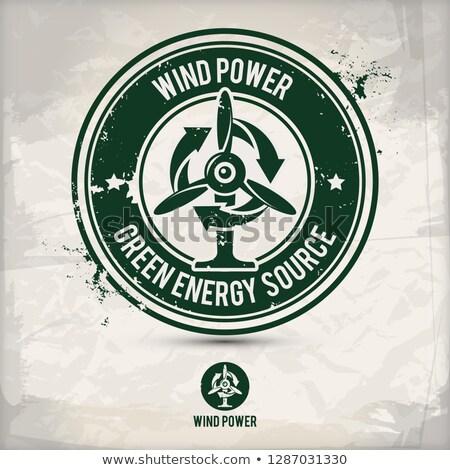 alternative eco friendly service stamp Stock photo © szsz