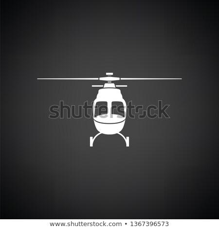 Helicóptero ícone ver cor escada Foto stock © angelp